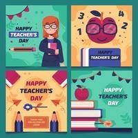 Teachers Day Social Media Template vector