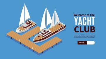 Yacht Club Horizontal Banner vector
