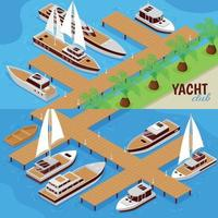 Yacht Club Banners vector