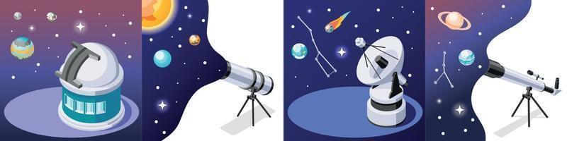 concepto de diseño de observación de estrellas vector