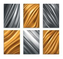 Golden And Silver Foil Texture vector