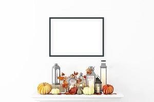 maqueta de marco otoño a4- 93 foto