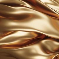 Gold fabric background 3D render photo