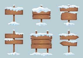 Snow Cap Signboards Set vector