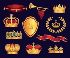 Royal Attributes Set vector