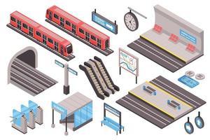 Subway Isometric Set vector
