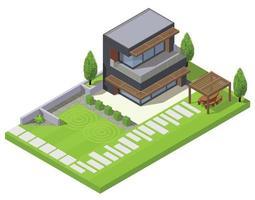 Modern Landscape Design Composition vector