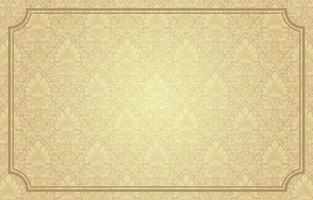 Golden Vintage Damask Background vector