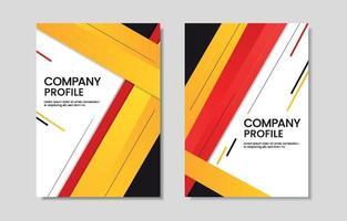 Geometric Company Profile vector