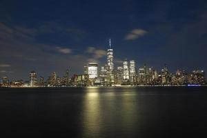 Beautiful night view of Manhattan seen from New Jersey photo