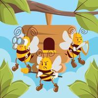 Activism Honey Bee Protection vector