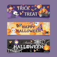 feliz halloween banner vector
