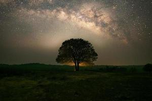 The night sky sees the Milky Way photo
