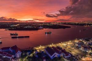 Bird's eye view of Samut Prakan, Thailand. photo