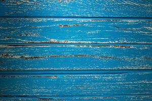 Blue rural wooden texture background in the morning light photo