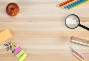 Background education concept. Back to school with copy space. photo