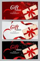 Luxury Members, Gift Card Template for a festive gift card, coupon vector