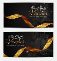 Luxury Members, Gift Card Template for your Business vector