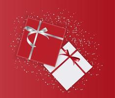 Abstract Gift Box Holiday Greeting Background. Vector Illustration