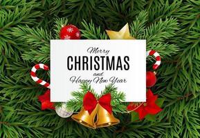 feliz navidad y año nuevo fondo. ilustración vectorial vector