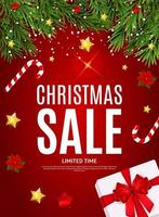 Merry Christmas and New Year Sale  Background. Vector Illustration