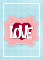Valentine's Day Heart Symbol. Love and Feelings Background Design vector