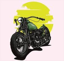 retro motorcycle illustration vector
