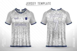 Soccer jersey and t-shirt mockup vector design template