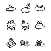 set icon land outline design vector