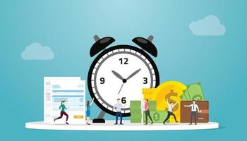 tax time deadline concept with people and taxes document vector