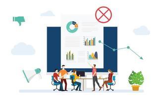 digital marketing strategy mistake fall down decrease with down arrow vector