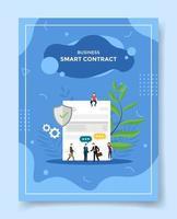business smart contract people businessman handshake vector