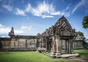 Preah Vihear ancient Khmer temple ruins landmark in Cambodia photo