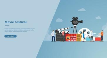 movie festival concept for website design template banner vector