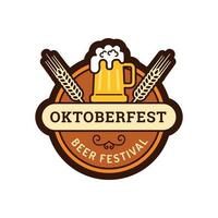 Beer festival Oktoberfest labels vector