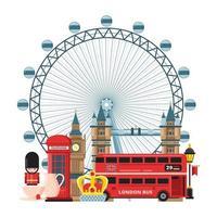 Flat cartoon style historic sight showplace web site vector