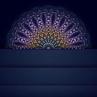 elegant mandala design in blue and red vector