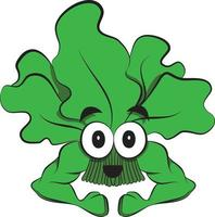 Cute Spinach Vegetable goes to Gym. Bodybuilding Weight Loss Graphic. vector