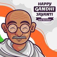 Happy Gandhi Jayanti Concept vector