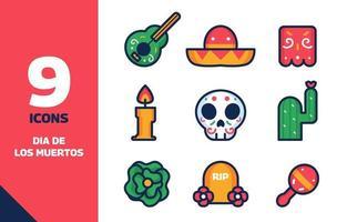 Dia De Los Muertos Icon Set vector