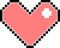 Pink pixel heart isolated vector