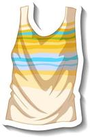 A sticker template with a summer tank top isolated vector
