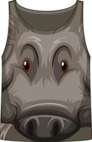 Tank top with face of boar pattern vector