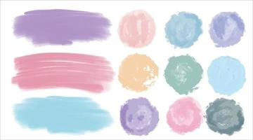 Vector watercolor stains, swabs, curls, divorces