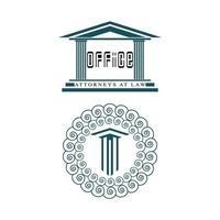 Ancient Pillar Columns Greek Rome Athens Historical Building logo vector