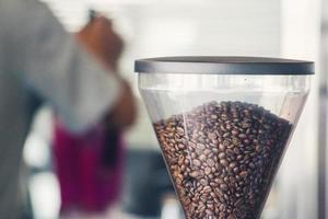 Close up image of a coffee maker machine photo