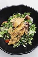 Fatoush traditional classic famous Lebanese Middle Eastern salad photo