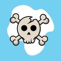 Skull Head With Cross Bone vector