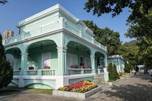Old Portuguese colonial mansions tourist attraction in Taipa area of Macao Macau China photo