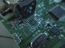 Part components inside joystick of a console game photo